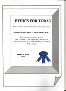 Ethics Certificate