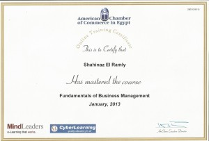 Fundamentals of Business Mngmnt Certificate