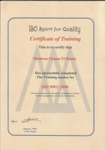 Iso Certifct