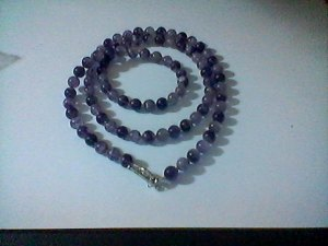 Amethyst Necklace with silver balls